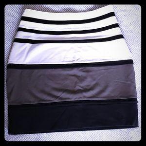 Express striped skirt - size 4